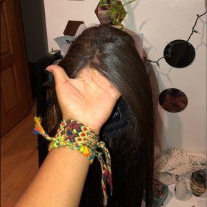 22 in long chocalate brown hair